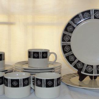 22 piece majestic ware dinnerware set