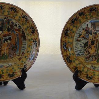 1 Pair Decorative Asian/Oriental Plates