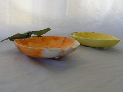 1 pair apple and lemon Fruit shaped decorative bowl