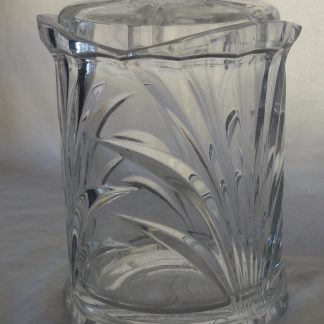Decorative clear glass canister