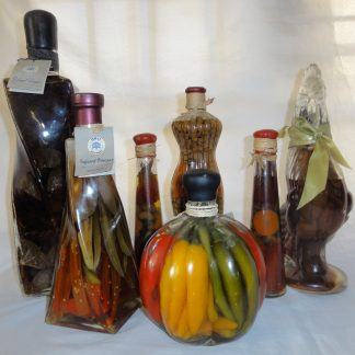7 Piece Orii Decorative Infused Vinegar Bottle Set