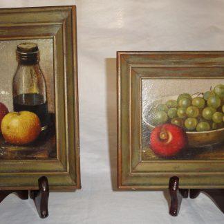 2 Framed Fruit Art