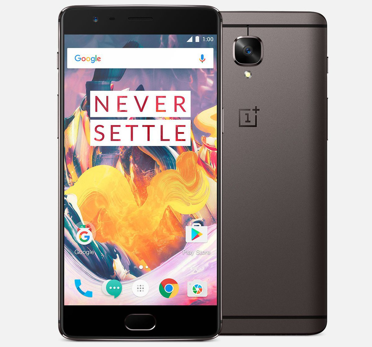 buy popular a2eb7 cacec Unlocked OnePlus 3T Global Cell Phone Gunmetal 64GB 0101090201 Dual Sim w/  OnePlus 3/3T Rosewood Case and Spigen Neo Hybrid Case
